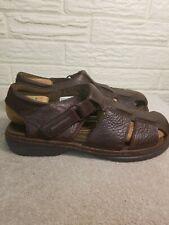 Rockport Mens Brown Leather Fishermen Sandals Size 11.5 Wide