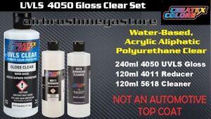 Createx Colors 240ml 4050 UVLS Gloss Set + Free Insured Freight