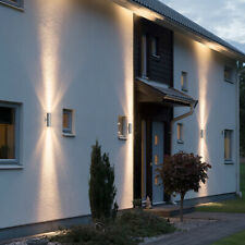 Stainless Steel Up Down Wall Light GU10 IP65 Double Outdoor Wall Front Light UK