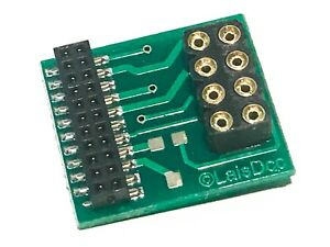 Slim 21 Pin Adaptor To Fit 8 Pin Decoder To 21 Pin Models. Class 47 37 20 66 Etc