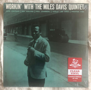 Workin' by Miles Davis Quintet Clear Vinyl LP Limited Edition Sealed