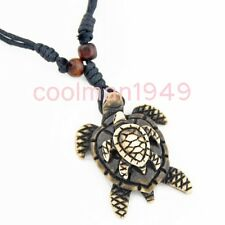 Cool tribal style turtle surfing yak bone pendant necklace RH251