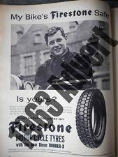 FIRESTONE Motorcycle Tyres 1963 original authentic vintage motorcycle advert