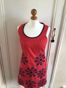 BODEN CHIC COTTON  DRESS SIZE 10 REG RED COLOUR