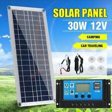 30W 12V Dual USB Flexible Solar Panel Battery Charger Kit Boat Favor Car