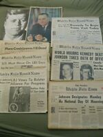 11 JFK Assassination Newspapers Collection Historical Newspaper John F Kennedy