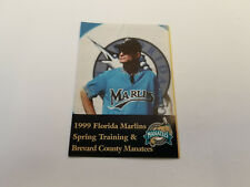 Brevard County Manatees/Marlins Spring Training 1999 Baseball Pocket Schedule