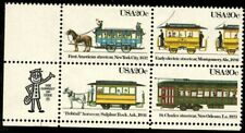 Streetcars - Scott #2059-2062  Zip Block of 4 Stamps MNH