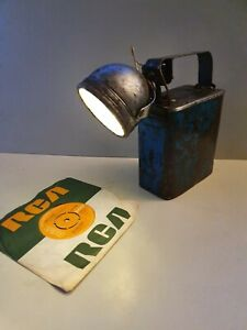 Vintage Upcycled Industrial Torch Lamp   Steampunk Light Mancave shop home bar