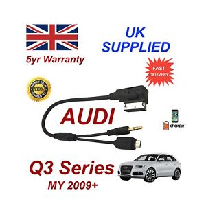 Audi Q3 Samsung Galaxy S3 S4 S5 S6 S7 Micro USB & AUX 3.5mm Cable s
