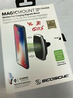 Scosche MagicMount Pro Qi Wireless Charger - Black (YL31)