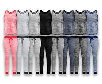 NEW Women Top & Bottom Tracksuit 8 Colors Sizes S-2XL Jogger Pants Drawstrings