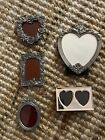 Elias+Arthur+Court+LOT+Of+5+Picture+Frames+Oval+Animal+Rose+Heart+Bow