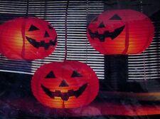 1991 Vintage Halloween 3 in 1 Luminette  Paper Jack-o-Lantern