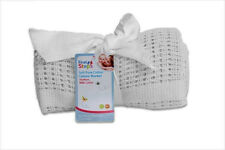 Newborn & Baby Pure 100 Cotton White Cellular Blanket 70 X 90cm by First Steps