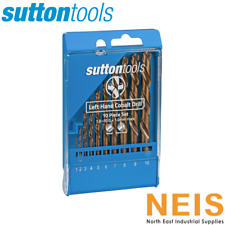 Sutton Tools Jobber Drill Set Left Hand Cobalt Drills 10 Piece Metric D202LH10M