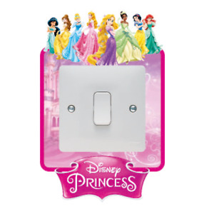 DISNEY PRINCESS LIGHT SWITCH SURROUND STICKER DECAL KIDS BOYS GIRLS BEDROOM