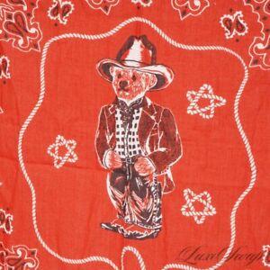 NWT #1 MENSWEAR Polo Ralph Lauren Americana Series Red Southwestern Bear Bandana