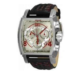 Invicta S1 Rally 27923 Men's Black/Red Analog Chronograph Date Leather Watch