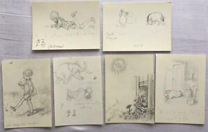 Winnie the Pooh - E.H. Shepard Sketch Postcards x6