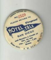 YALE HOTEL pocket mirror Early 1900s SAN DIEGO A.M. Neal