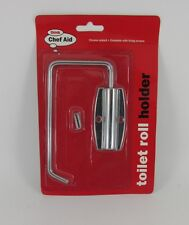 1 x Chef Aid Toilet Roll Holder Metal Toilet Roll Fixing With Screws Janitorial