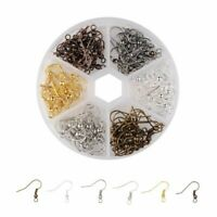 120 Pieces Earring Hooks Ear Wires French Hooks Hypoallergenic Stainless Steel