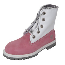 Timberland Toddlers Boots Leather SPD UP Pink Grey Waterproof 29877 Outdoors DS