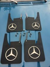 MERCEDES W123 Mud Flaps Splash guards With Bracket Set Front & Rear Set 4 Pieces