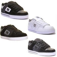 DC Shoes Pure SE Lacek up Skate Nubuck Leather Trainers Black Charc UK 9 - EU 43