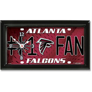 Atlanta Falcons NFL License Plate Clock