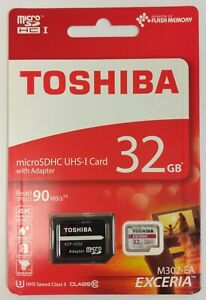 TOSHIBA 32GB M302-EA microSDHC