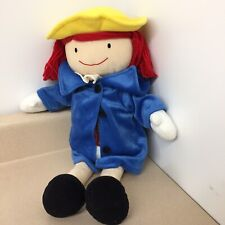 """Madame Alexander 18"""" Plush 2006 Madeline Doll With Coat Dress and Hat Ar122"""