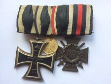 MEDAL WW1 GERMAN GROUP OF 2 MEDALS - EK2 + CROSS OF HONOUR +1870-71 MINIATURE