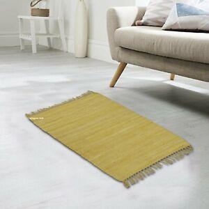 Rug 100% Natural Cotton 2x3 Feet Hand woven Area Rug Modern Floor Yoga Door Mat