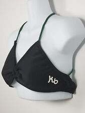 Kauai Bikini Hammer Top Black Green And White  24 KB Size Medium Made In USA