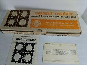 Vintage RAVIOLI MAKER by Vitantonio w/Box and Instructions