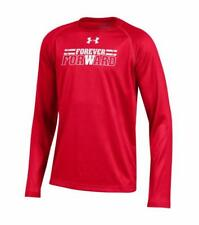 "UNDER ARMOUR® Boys' S(8) Wisconsin Badgers ""Forever Forward"" Shirt NWT"