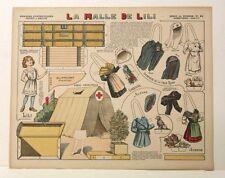 Imagerie D'Epinal - No 81 La Malle De Lili, Série de Guerre paper doll toy model