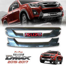 COVER FRONT GRILLE GRILL GREY RED LOGO FOR ALL NEW ISUZU D-MAX DMAX 2015-2017
