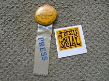 vintage rare 1951 venice beach surf festival press badge surfboard harbour decal
