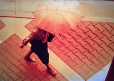 Lot Negative Original Model New Press Print Ad Model Umbrella Female Magazine