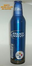 PITTSBURGH STEELERS 2010 NFL SUPER BOWL FOOTBALL BUD PA.ALUMINUM BOTTLE-BEER CAN