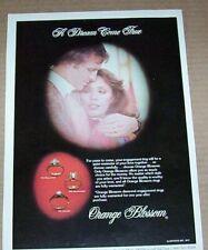 1977 print ad -Orange Blossom jewelry diamond rings -Dream Come True advertising