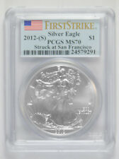 2012-(S) American Silver Eagle PCGS MS-70 First Strike Struck at San Francisco