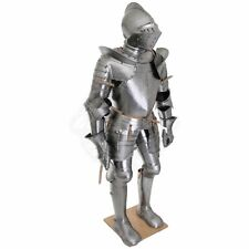 Custom Made 18 gauge Steel German Medieval Full Body Suit Of Armor Cuirass