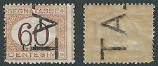 1925 LIBIA SEGNATASSE 60 CENT DEMONETIZZATO MH * - D3