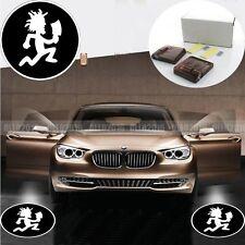 2x Hatchet Man Logo Car Auto Door Courtesy Wireless Light Ghost Projector Lights