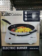 Elite Cuisine ESB-301F Electric Single Burner - Electric Stove Top - White