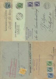 Luxembourg 5 x1930's covers